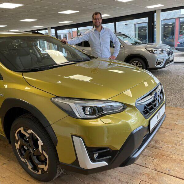 test de nieuwe 2021 Subaru XV tijdens een proefrit