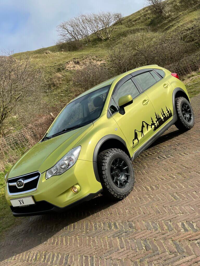 Subaru XV custom made adventure, liftkit, offroad wielen, motegi velgen, niestcar heemskerk